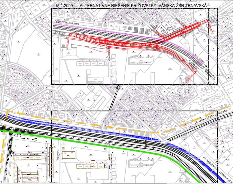 Dve varianty riešenia železničného priecestia na Ivánskej ceste